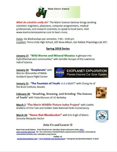 Marin Science Seminar